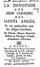 La devotion aux neuf choeurs des saints anges