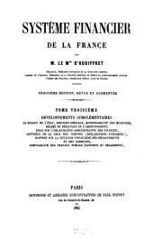 Système financier de la France: Volume 3