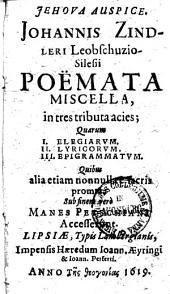 Poëmata miscella ...: Sub finem vero Manes Petschiani accesserunt