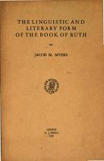 the linguistic and literary form of the book of ruth