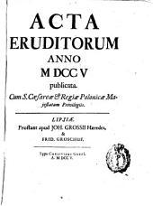 Acta eruditorum: anno ... publicata