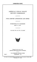 American Indian Policy Review Commission PDF