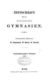 Zeitschrift für die österreichischen Gymnasien: Band 26