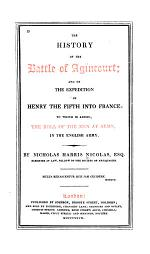 The History of the Battle of Agincourt