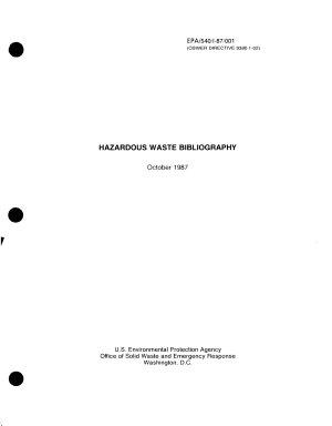 Hazardous Waste Bibliography PDF