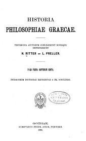 Historia philosophiae gaecae: Band 1