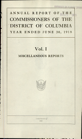 Report of the Commissioners of the District of Columbia: Volume 4