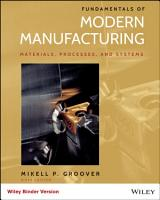 Fundamentals of Modern Manufacturing  Materials  Processes  and Systems  6th Edition PDF