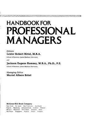 Handbook for Professional Managers PDF