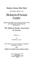 Holstein Friesian Herd book PDF