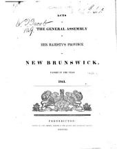 Acts of New Brunswick