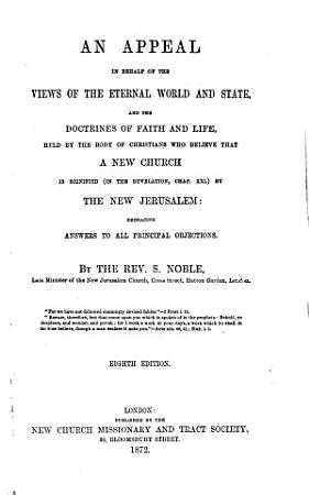 An appeal in behalf of the views of the eternal world and state     Eighth edition PDF
