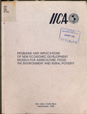 Problems and implications of new economic development models for agriculture  food  the environment and rural poverty PDF