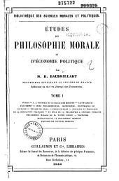 Etudes de philosophie morale et d'économie politique: Volume1