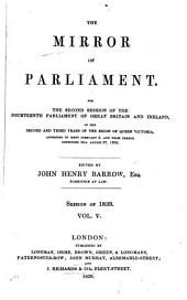 The Mirror of Parliament: Volume 5
