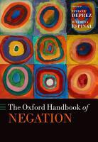 The Oxford Handbook of Negation PDF