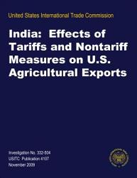 India  Effects of Tariffs and Nontariff Measures on U S  Agricultural Exports PDF