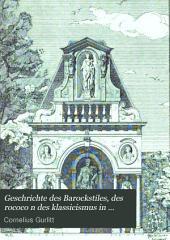 Geschrichte des Barockstiles, des rococo n des klassicismus in Belgien, Holland...