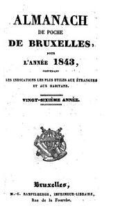 Nouvel almanach de poche, de Bruxelles, pour ... ; contenant les indications les plus utiles aux étrangers et aux habitans
