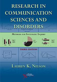 Research in Communication Sciences and Disorders Book