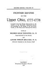 Frontier Defense on the Upper Ohio, 1777-1778