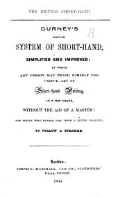 The British shorthand, Gurney's system simplified and improved