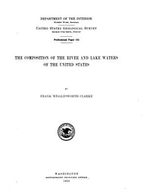 The Composition of the River and Lake Waters of the United States PDF