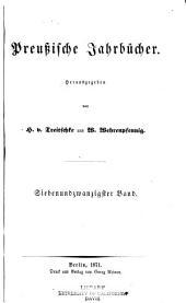 Preussische Jahrbücher: Band 27