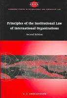 Principles of the Institutional Law of International Organizations PDF