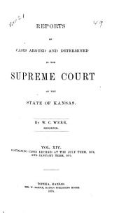 Kansas Reports: Volume 14