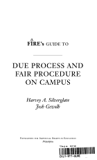 FIRE s Guide to Due Process and Fair Procedure on Campus PDF