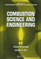Combustion Science and Engineering PDF
