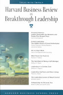 Harvard Business Review on Breakthrough Leadership PDF
