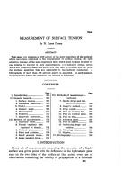 Measurement of Surface Tension PDF
