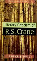 Literary Criticism of R S  Crane PDF