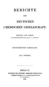 Berichte der Deutschen Chemischen Gesellschaft zu Berlin: Band 19,Teil 3