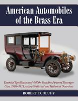 American Automobiles of the Brass Era PDF