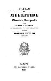 Quaedam de myelitide