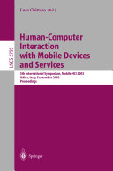Human-Computer Interaction with Mobile Devices and Services
