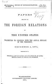 Papers Relating to the Foreign Relations of the United States: Volume 18