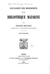 Catalogue des manuscrits de la Bibliothèque Mazarine: Volume2