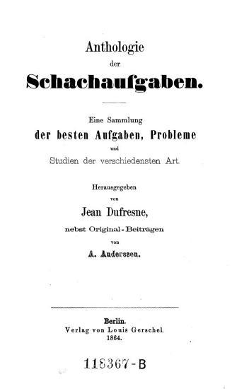 Anthologie der Schachaufgaben PDF