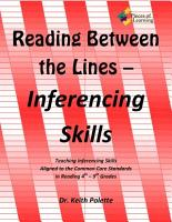 Reading Between the Lines  Inferencing Skills PDF
