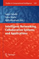 Intelligent Networking  Collaborative Systems and Applications PDF