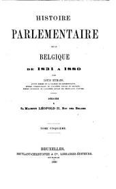 Histoire parlementaire de la Belgique ...: 1870-1880