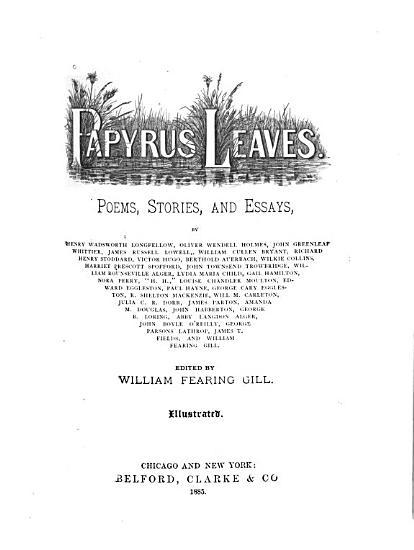 Papyrus Leaves PDF