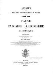 Annales du Musée royal d'histoire naturelle de Belgique: Volume14