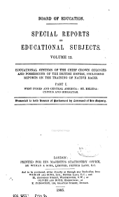 Special Reports on Educational Subjects: Volume 12