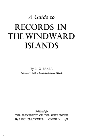A Guide to Records in the Windward Islands