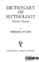 Dictionary of Mythology  Mainly Classical PDF